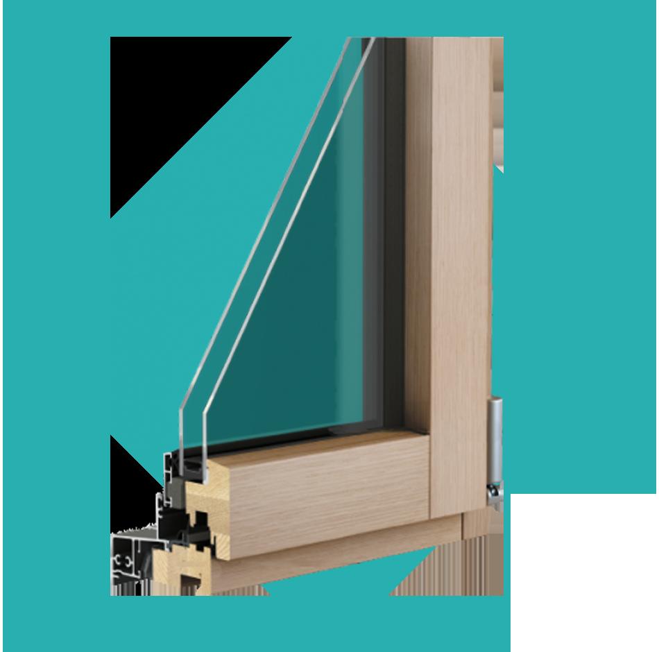 coupe fenêtre bois aluminium