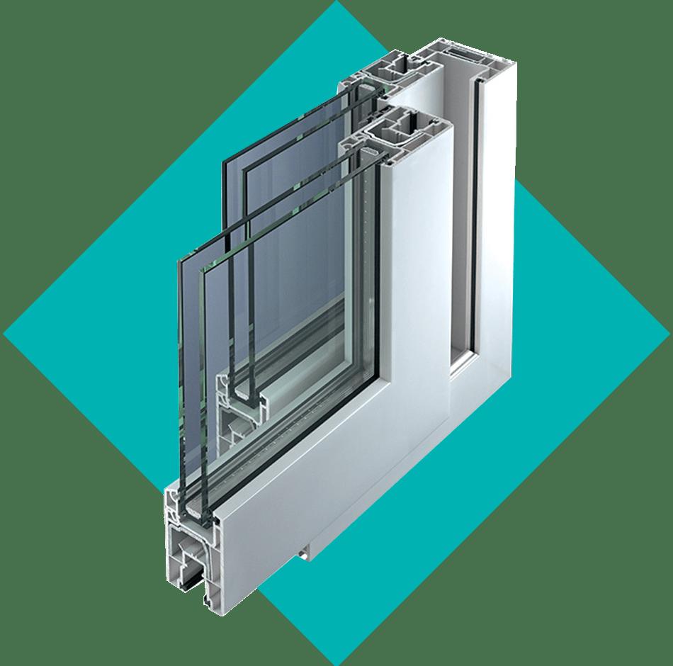 coupe baie vitrée PVC